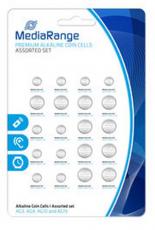 MediaRange Premium Alkaline Knopfzellen-Set, sortiert, AG3|AG4|AG10|AG13, 20er Pack