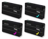 deltalabs Tintenpatronen Komplettset für Epson Workforce Pro WF-5690 DWF