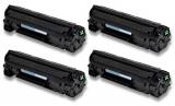 4er-Set deltalabs Toner schwarz für HP Laserjet pro P1102w