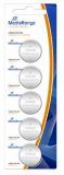 MediaRange Lithium Knopfzellen, CR2450|3V, 5er Pack