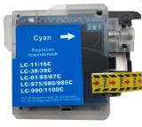 deltalabs Druckerpatrone cyan ersetzt Brother LC-980 / LC-1100