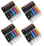 deltalabs Druckerpatronen Sparpaket für Canon Pixma MX-725