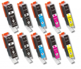 deltalabs Tintenpatronen Sparpaket für Canon Pixma MP-560